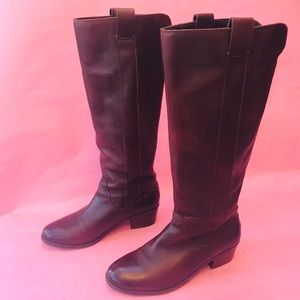 Dark brown Sole Society leather riding boots
